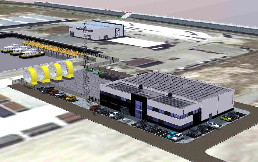 Model of the new Vattenfall O&M hub