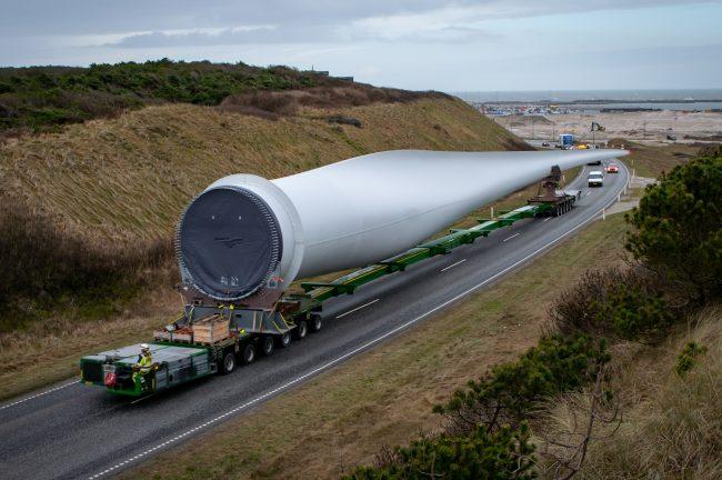 Blad van een 11 MW windmolen